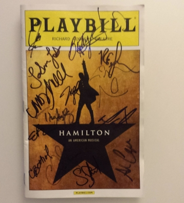 Hamilton original Broadway cast playbill