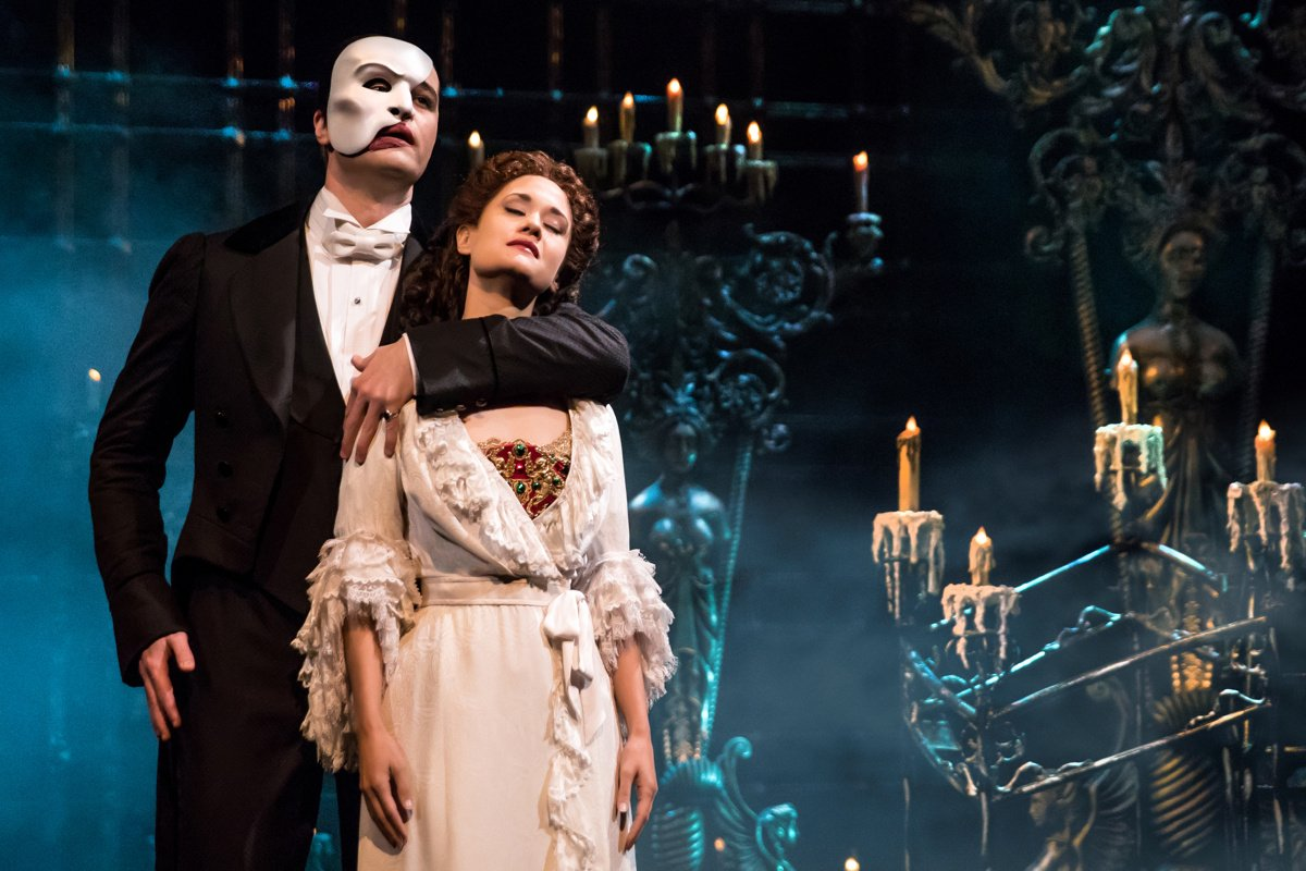 Ben Crawford and Ali Ewoldt in The Phantom of the Opera. Photograph courtesy of Murphy