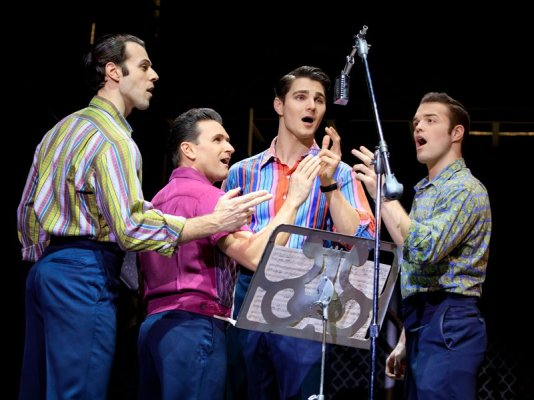 The cast of Jersey Boys. Photograph courtesy of Joan Marcus