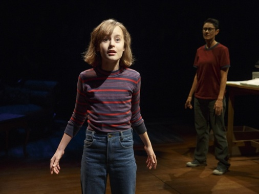 Sydney Lucas as Small Alison & Beth Malone as Alison in Fun Home. Photo courtesy of Joan Marcus and Jenny Anderson