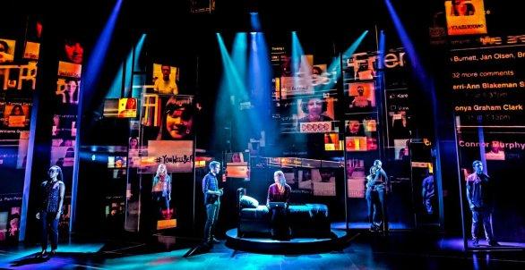 The original Broadway cast of Dear Evan Hansen. Photograph courtesy of Matthew Murphy