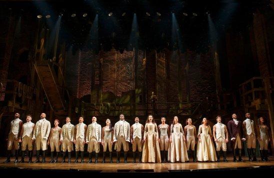 The cast of Hamilton. Photograph courtesy of Joan Marcus