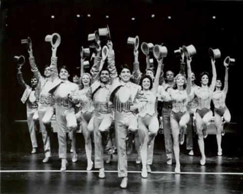 The cast of A Chorus Line. Photograph courtesy of Martha Swope