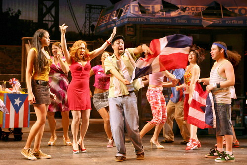 Lin-Manuel Miranda and the original Broadway cast of In The Heights. Photography courtesy of Joan Marcus