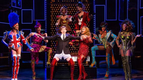 Stark Sands, Billy Porter and the company Kinky Boots. Photography courtesy of Matthew Murphy