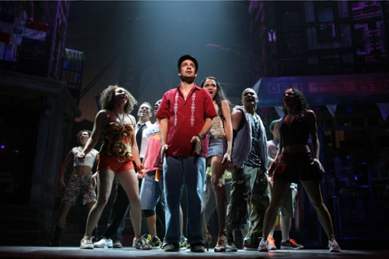 Lin Manuel-Miranda and the original Broadway cast of In The Heights | Photo courtesy of Joan Marcus