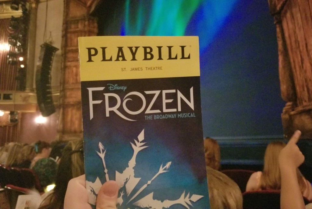 Frozen Broadway orchestra row 4 seat | Photo courtesy of theatrenibbles.com