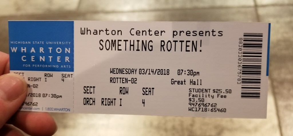 Something Rotten! tour student discount ticket | Photo courtesy of theatrenibbles.com